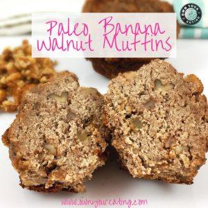 Paleo banana walnut muffin