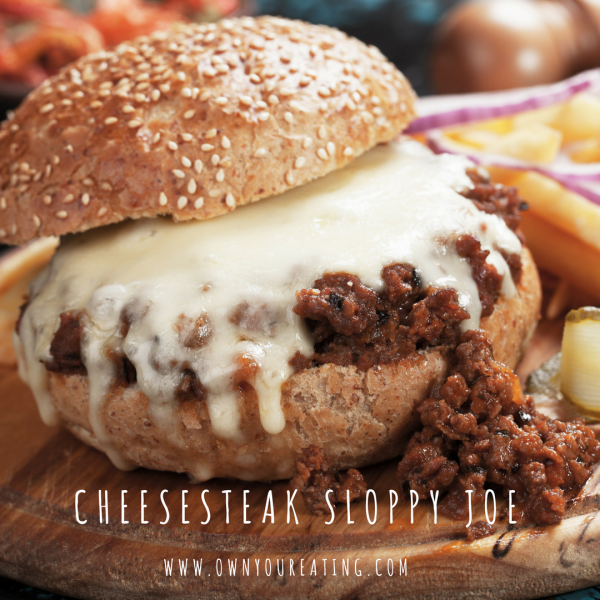 Cheesesteak Sloppy Joe [Recipe]