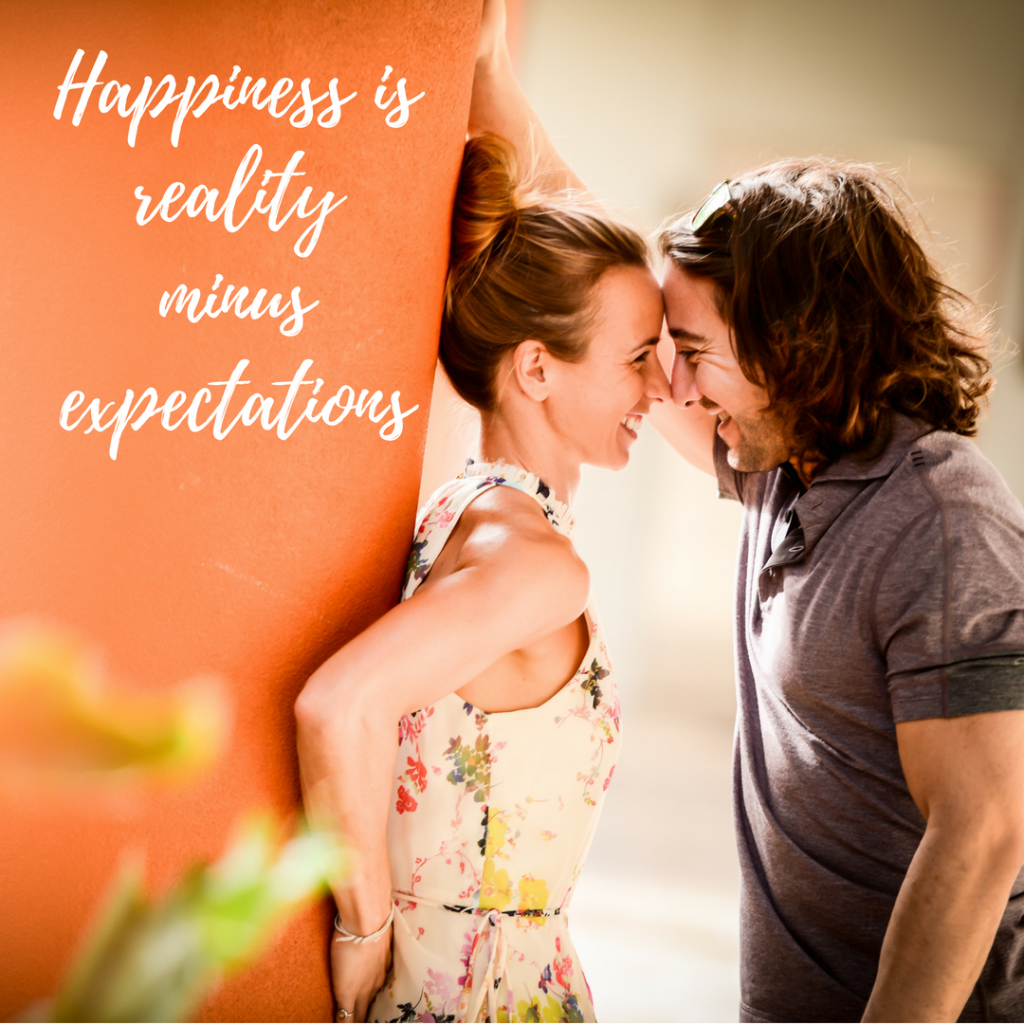 Happiness is reality less expectations
