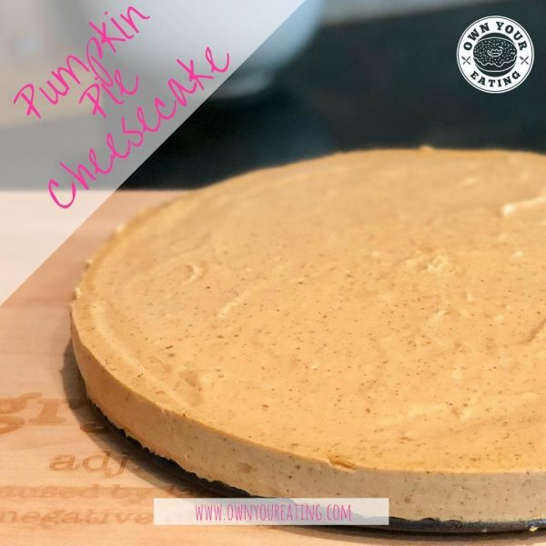 Skinny Pumpkin Pie Cheesecake [Recipe]
