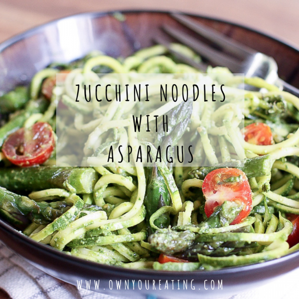 Zucchini Noodles with Asparagus [Recipe]