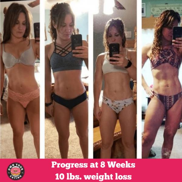 Ginnie's 8 week Progress