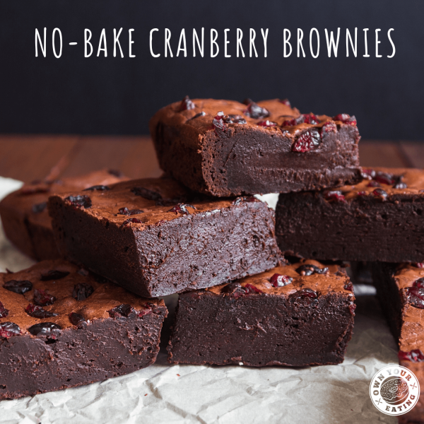 No-Bake Cranberry Brownies [Recipe]