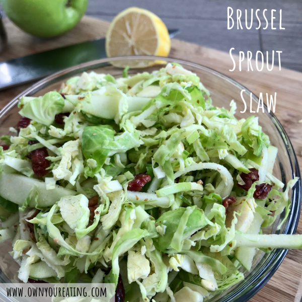 Brussel Sprout Slaw [Recipe]
