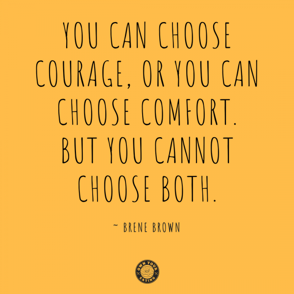 Why courage is crucial for transformative change