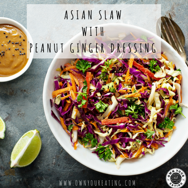 Asian Slaw with Peanut-Ginger Dressing [Recipe]