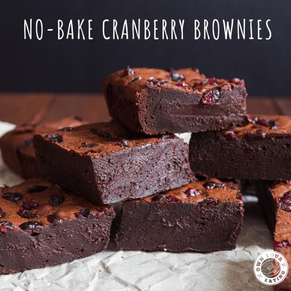 No-Bake Cranberry Brownies [Recipe]