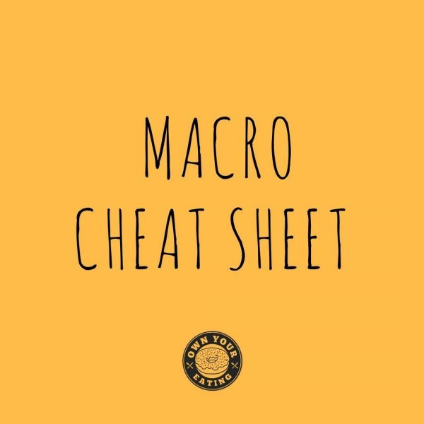 """""""Just Tell Me What to Eat!"""" Macro Cheat Sheet"""