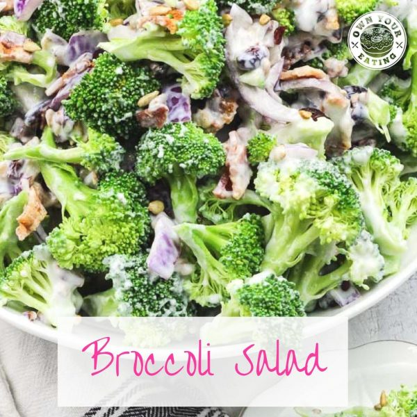 Creamy Low-Fat Broccoli Salad [Recipe]