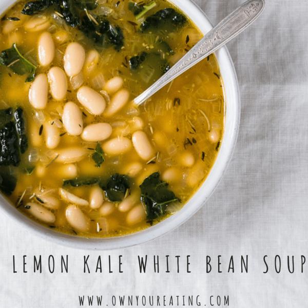 Lemon, Kale & White Bean Soup [Recipe]