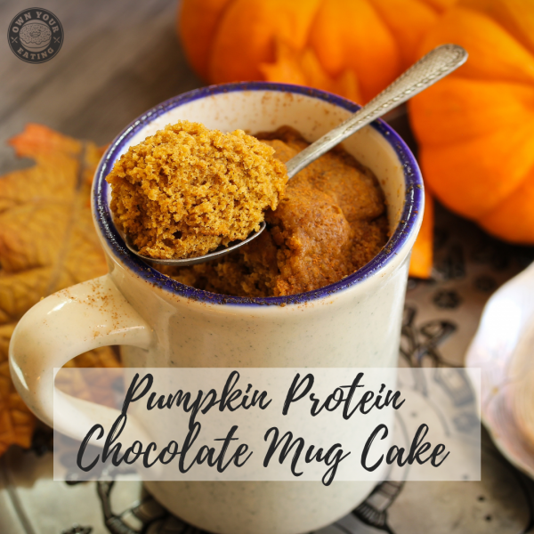 Pumpkin Protein Chocolate Mug Cake [Recipe]