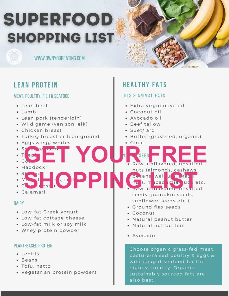 Superfood shopping list