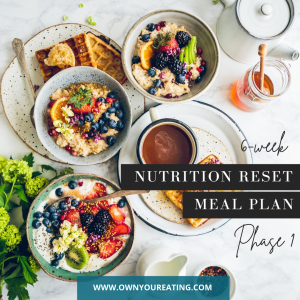 Nutrition reset phase 1 meal plan